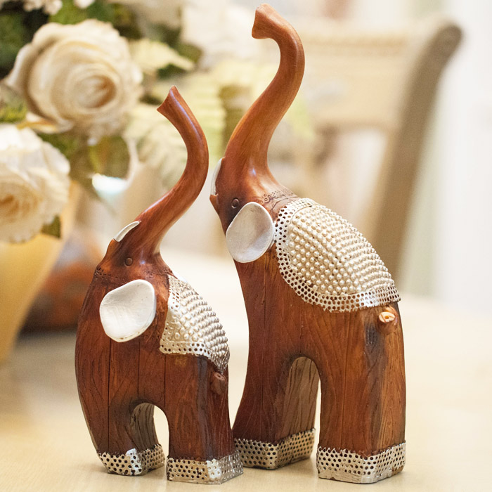 buy animal resin crafts lovers crafts living room decoration home decor elephant home furnishing ornament statue wedding gift from - Elephant Home Decor