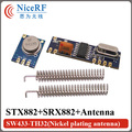 10Sets 433MHz ASK Transceiver Module Kit SRX882 + STX882 +Spring Antenna Wireless RF 433MHz Module