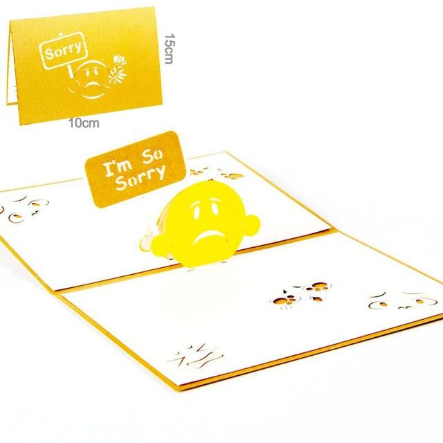 3d laser cut handmade im so sorry lover apologize paper invitation 3d laser cut handmade im so sorry lover apologize paper invitation greeting cards postcard m4hsunfo