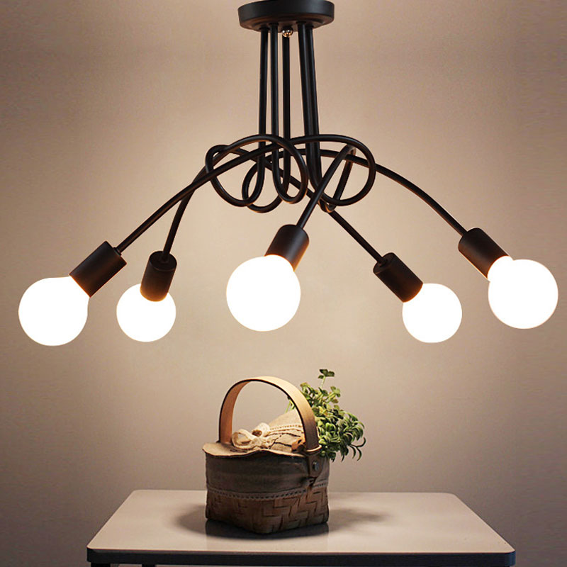 American country modern creative Korean branch type pendant lamps Nordic restaurant bedroom,5 heads E27 lamps for living room gilbert e big magic creative living beyond fear
