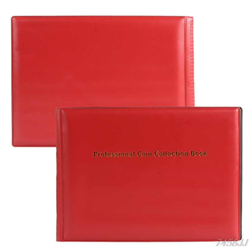 Collecting-Coins-Holders Book Album Penny-Pockets Money G03 Drop-Ship title=