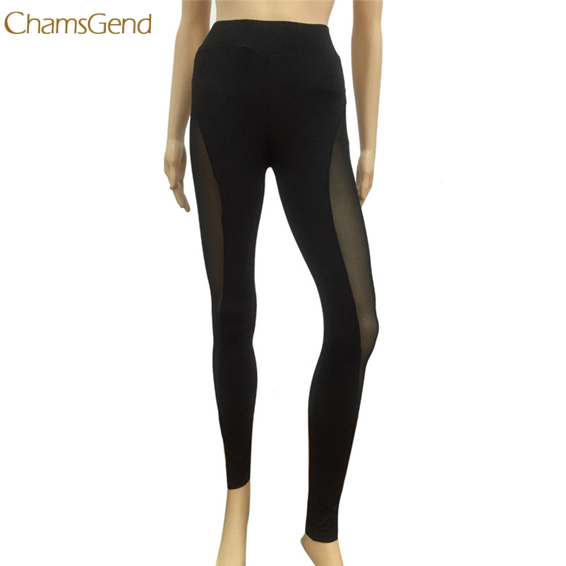 CHAMSGEND Trendy Style 2017 Spring Women Sexy Pants Compression Hollow Mesh Leggings Skinny Fitness Drop Shipping Gifts