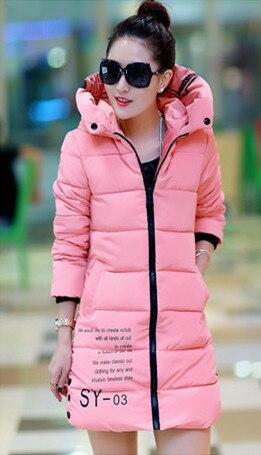 2016 Wadded Jacket Female Wnter Jacket Women Outerwear Slim Jackets Long Cotton-Padded Pink Coats Print Plus Size Coat LPK005