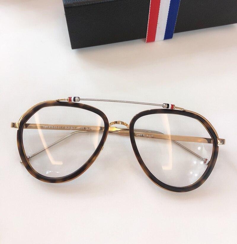 New York Vintage optique thom lunettes cadre hommes femmes ordinateur myopie lunettes de vue lunettes cadre femmes femme avec boîte - 2