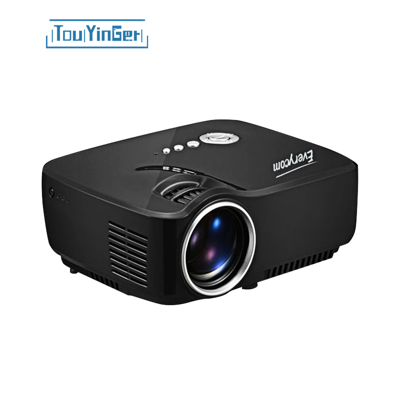 Touyinger mini portable gp70 projector 1200lumens full hd home theater led video...