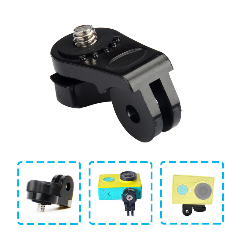 1/4 Screw Tripod Mount Adapter Converter <font><b>Accessory</b></font> for Xiaomi Yi for <font><b>Sony</b></font> Mini Cam Action Camera AS20 <font><b>AS30V</b></font> AS200V AS100V HDR image
