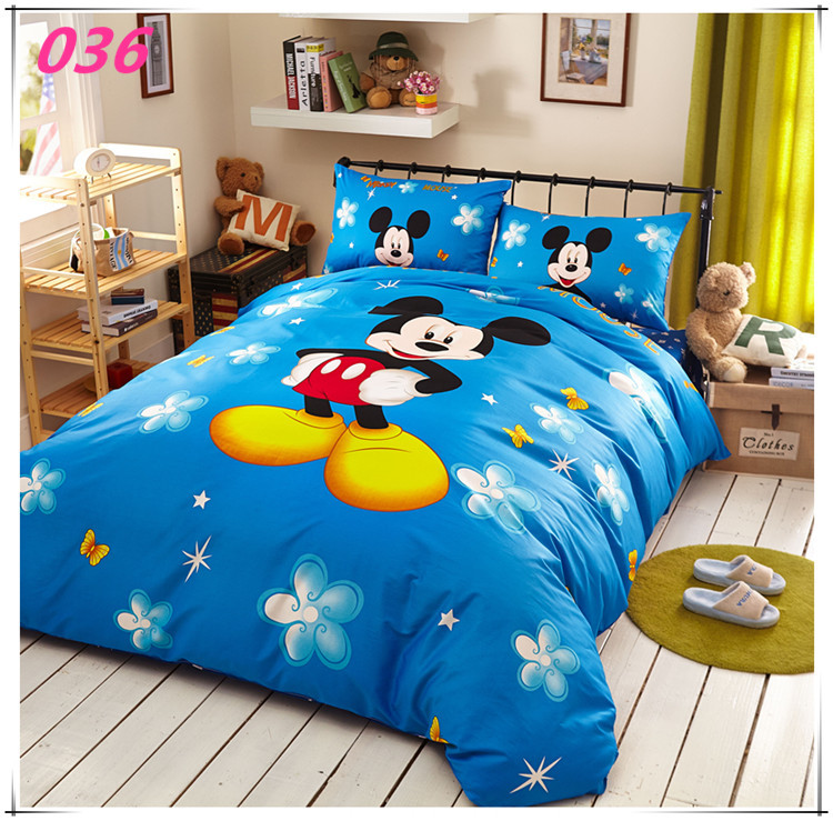 Mickey Mouse Kids Print Bedding Set 4pc Bedclothes 100
