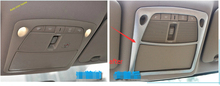 Chrome Moon Roof Switch Trim + Reading Lamp Cover Molding Garnish Trim For nissan Rogue 2014 2015 2016 2.5L / x-trail T32 2.5L