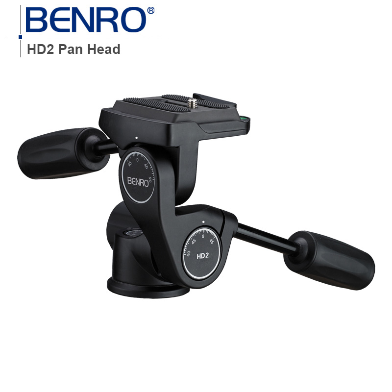 Benro HD Series 3-Way Pan Heads tripod head HD2 Professional Magnesium Alloy Panhead Weight 0.5kg Max Loading 8kg benro s4 video head