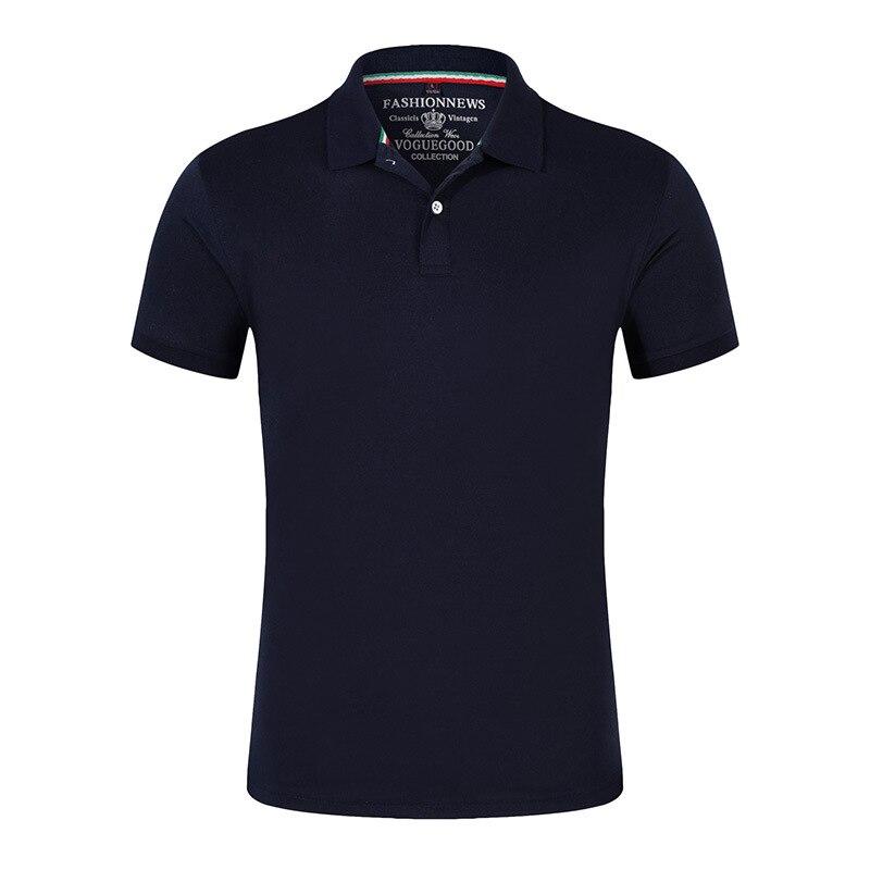 2019 Polo Shirts Men High Quality Cotton Short Sleeve Shirts Business Casual Solid Summer Sport Jerseys Golf Tennis Black Shirts