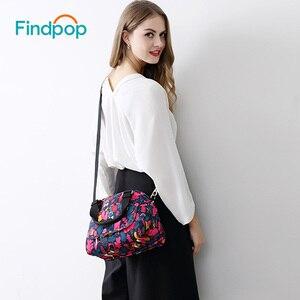 Findpop marca bolsa feminina 2018 novas flores impressão bolsa de ombro sacos do mensageiro das mulheres lona à prova dwaterproof água bolsas mujer macaco|monkey bag|monkey brand bag|brand shoulder bag -