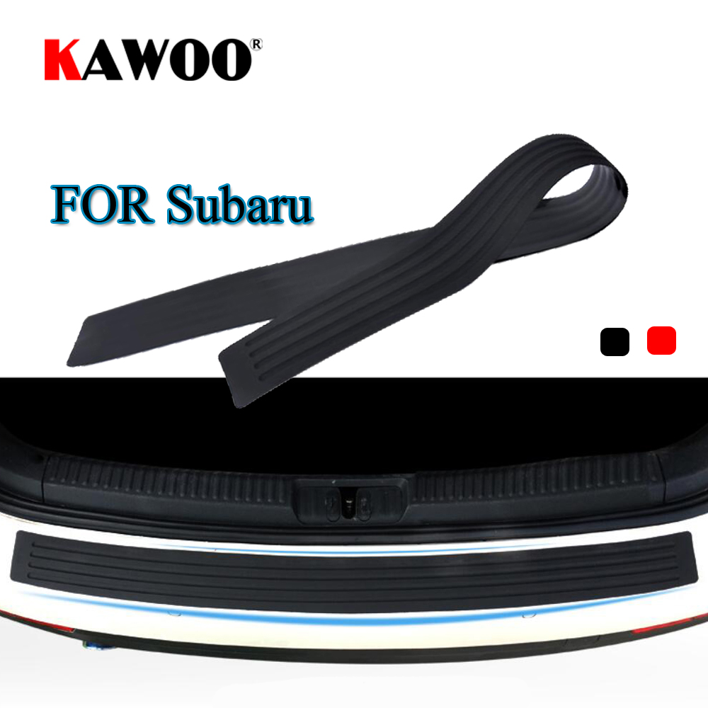 KAWOO For Subaru Forester Outback Lmpreza XV Legacy Impreza Rubber Rear Guard Bumper Protect Trim Cover Sill Mat Pad Car Styling