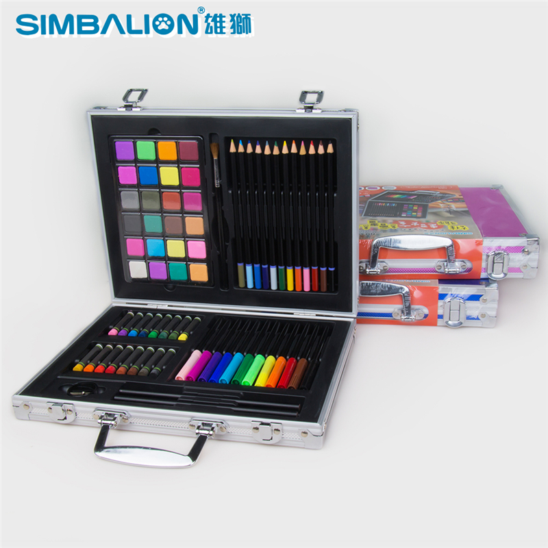 Simbalion Painting Art Set Include Pencils Oil Pastel Watercolor Paint Sharpener and Paint Brush Art School Supplies 1 Set