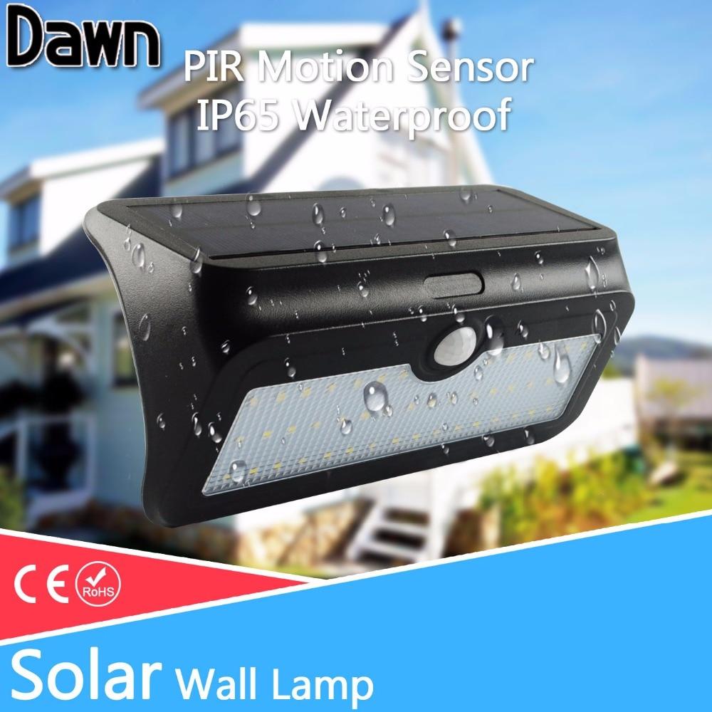 LED Solar Light 10W 2835 SMD 3.7V Waterproof IP65 Solar lamps PIR Motion Sensor Pathway Solar Power Outdoor Lighting Wall Lamp
