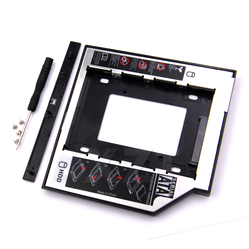 Hot SATA to SATA 2nd HDD Caddy 9.5mm for 9mm 9.5mm SSD Case Hard Disk Drive Enclosure Bay for Notebook ODD Optibay CD-Rom for lenovo ideapad g700 g710 g780 g770 17 3 inch laptop 2nd hdd 1tb 1 tb sata 3 second hard disk enclosure dvd optical drive bay