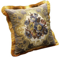 Home New Year Wedding Decoration Pillow Luxury Velvet Embroidery The Living Room Bedroom Sofa Pillowcases Bed