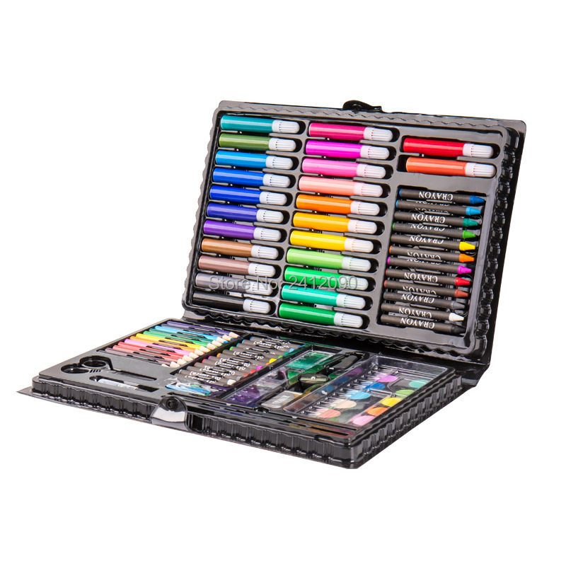 1 set Children Colored Art Marker Pen Drawing Artist Kit Color Pen Pencil Painting Set Manga Paint Brush Tool School Supplies 2017 new hiphop men hole jogger pants high quality casual destroyed skinny ruched jeans hole casual pants jogger rock jeans