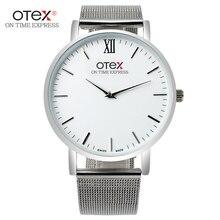 Nuevos Relojes de Los Hombres de Primeras Marcas de Lujo 30 m Impermeable Masculino Correa de Acero Hombres Reloj de Cuarzo Ocasional Reloj de pulsera Deportivo