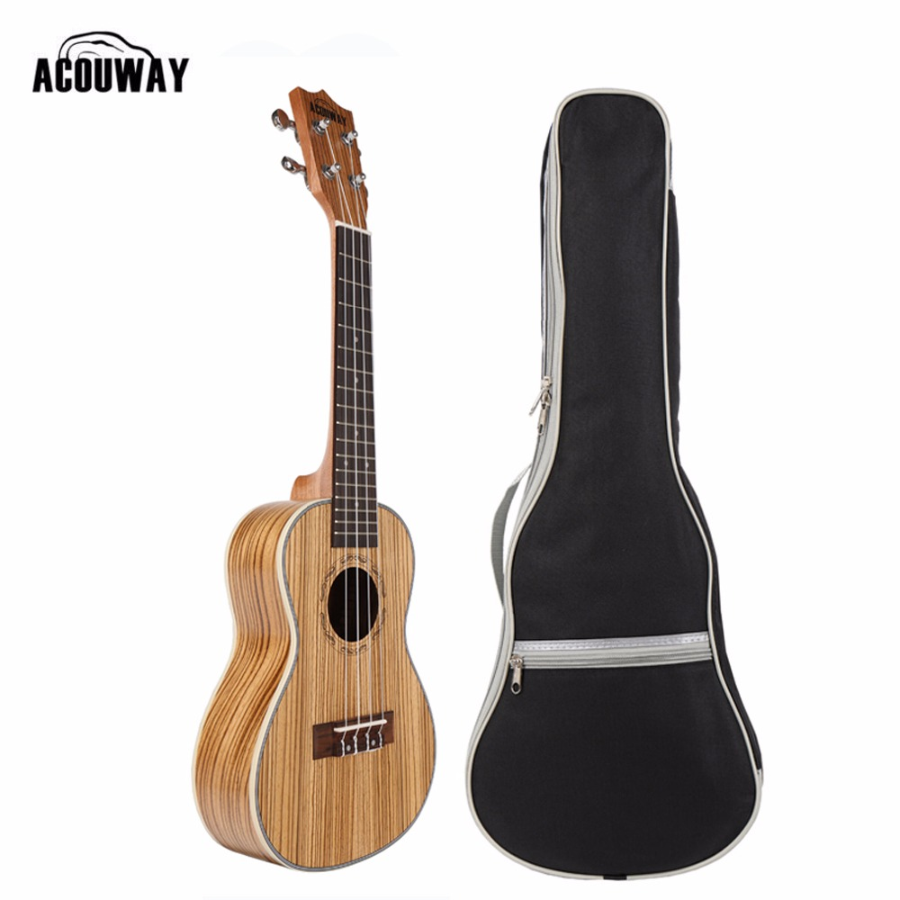 Acouway Ukulele Soprano Concert Ukulele 21 23 inch Zebra uku Ukelele with ABS binding Hawaii guitar Stringed Musical Instrument 26 inchtenor ukulele guitar handcraft made of mahogany samll stringed guitarra ukelele hawaii uke musical instrument free bag