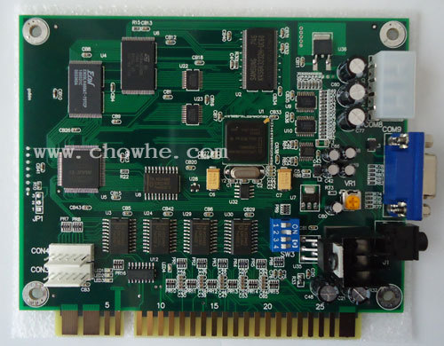 [CH] Quality classical game 19 in 1 PCB NEW, CGA/VGA output