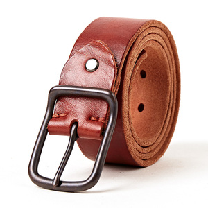 Image 4 - Top quality mens genuine leather belt designer belts men luxury strap fashion vintage pin buckle for jeans store star products