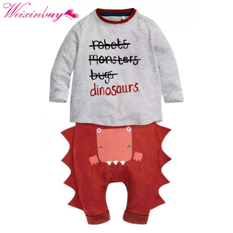 Toddler Kids Baby Halloween Long Sleeve Outfits T-shirt Tops +Pants Clothes Set