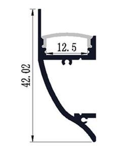 Image 4 - Светодиодный алюминиевый профиль длиной 10 1 м, номер изделия, Светодиодный настенный профиль для крепления на стене, подходит для светодиодных лент шириной до 12 мм, светодиодный профиль