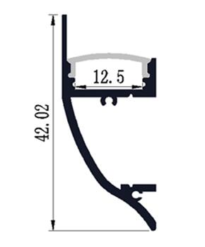 10PCS-1m length of Aluminum LED Profile-Item No.LA-LP43 wall mounting LED Profile suitable for LED strips up to 12mm width
