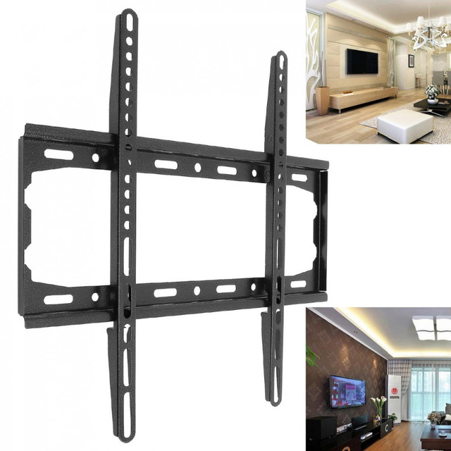 Universal Tv Wall Mount Bracket Fixed Flat Panel Television Frame For 26 To 55 Inch