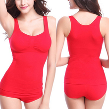 Women Seamless Padded Body Shaper Breast Lift Waist Slimming Tank Top Shapewear