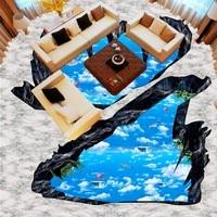 Free shipping Cliff Stereo Sky Bathroom Kitchen Living Room bedroom Shopping Arcade custom flooring 3d wallpaper barber mural
