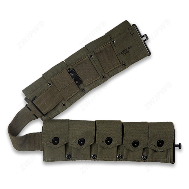 WW2 US A RMY M1 CANVAS GARAND TEN CELL POUCH ARMY GREEN HIGHT QUALITY