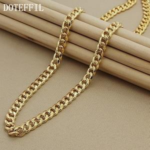 1pcs Men's Jewelry Necklace 24K Gold Necklace Classic Sideways Necklace For Men Factory Direct