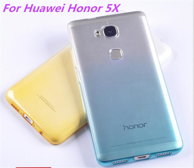 huge selection of 7cfe9 b5941 US $1.99 |FOR Huawei honor 5X silicon case Cover Fundas Ultra Thin 0.5mm  Transparent TPU Back Case For Huawei honor 5X phone-in Fitted Cases from ...