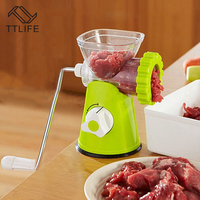 TTLIFE High Quality Multi functional Home Manual Meat Grinder For Mincing Meat/Vegetable/Spice Hand cranked Meat Mincer Sausage