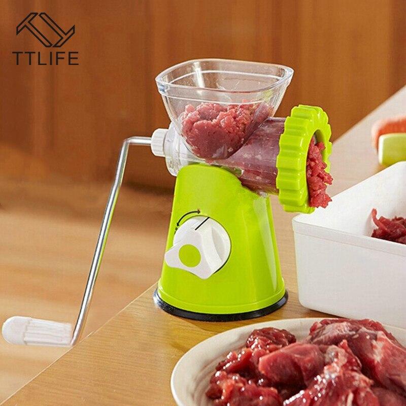 TTLIFE Hohe Qualität multifunktionale Hause Manuellen Fleischwolf Für Hacken Fleisch/Gemüse/Gewürz handkurbel Fleischwolf Wurst