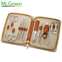 MR.GREEN pedicure nail clippers gift set family nail set stainless steel professional nail clipper dead skin shear With holster