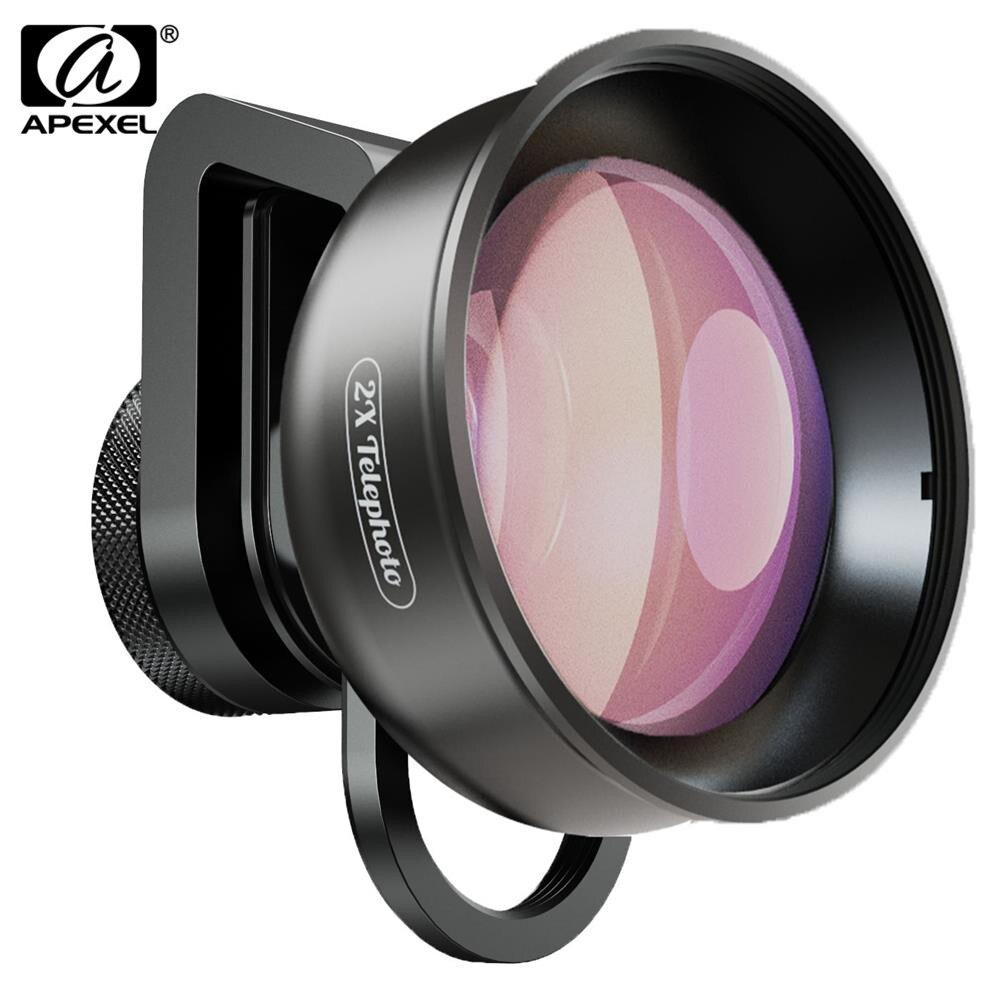 APEXEL HD 2X 4K Telescópio Lente Zoom Telefoto Lente Da Câmera Do Telefone Com CPL Filtro Da Estrela Para Huawei Samsung iPhone todos os Smartphones