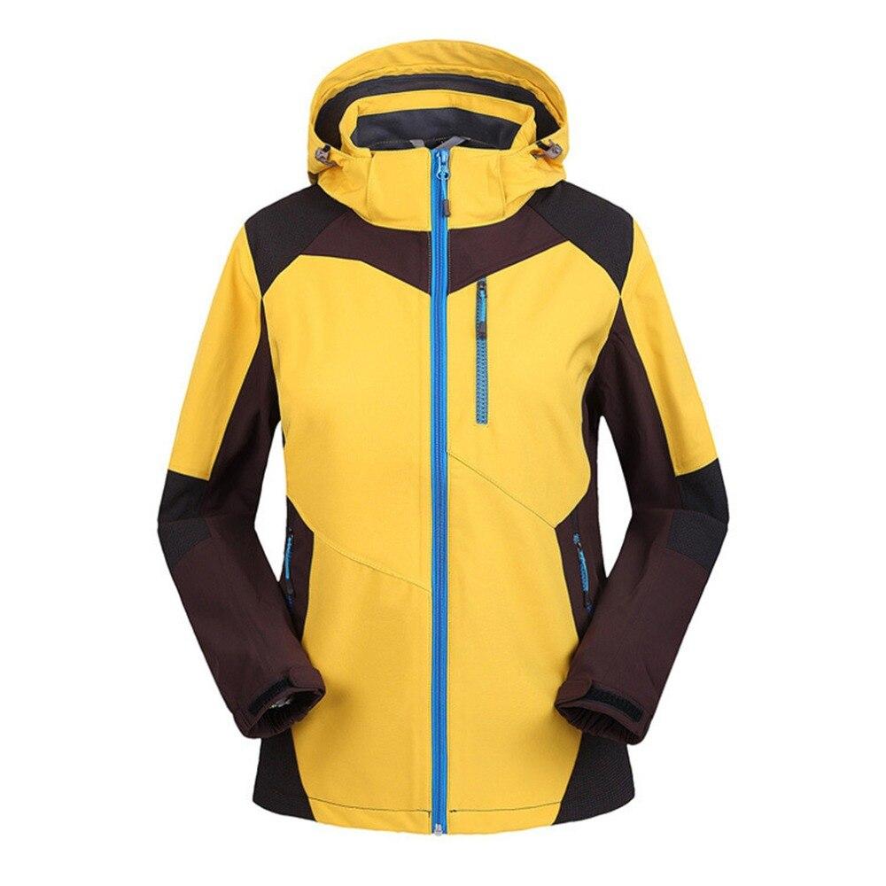 Primavera otoño mujeres softshell con capucha chaquetas de la capa a prueba de v