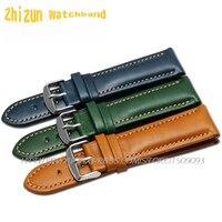 Top Fashion New Arrival durável macio do couro genuíno couro das mulheres dos homens assista bracelete 18 mm 20 mm 22 mm cor rica pulseira
