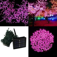 Led Solar Light Outdoor 200LEDs 20M LED Strings Solar Panels Powered With Rechargeable Battery For Holiday