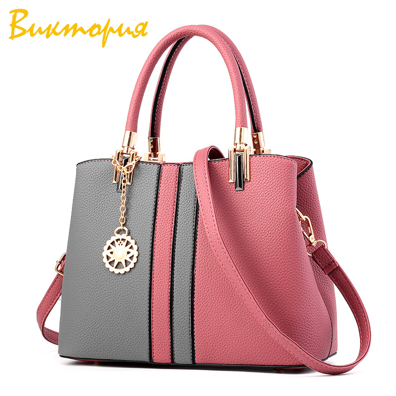 CHARA S BAG brand high quality bags for women new Stitching color Multifunction handbags Business Female Shoulder Bag in Top Handle Bags from Luggage Bags