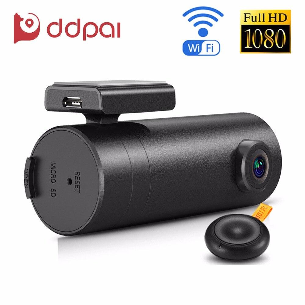 imágenes para Ddpai mini wifi dvr coche 1080 p fhd visión nocturna grabador dash cam lente rotativa coche cámara inalámbrica instantánea auto videocámara