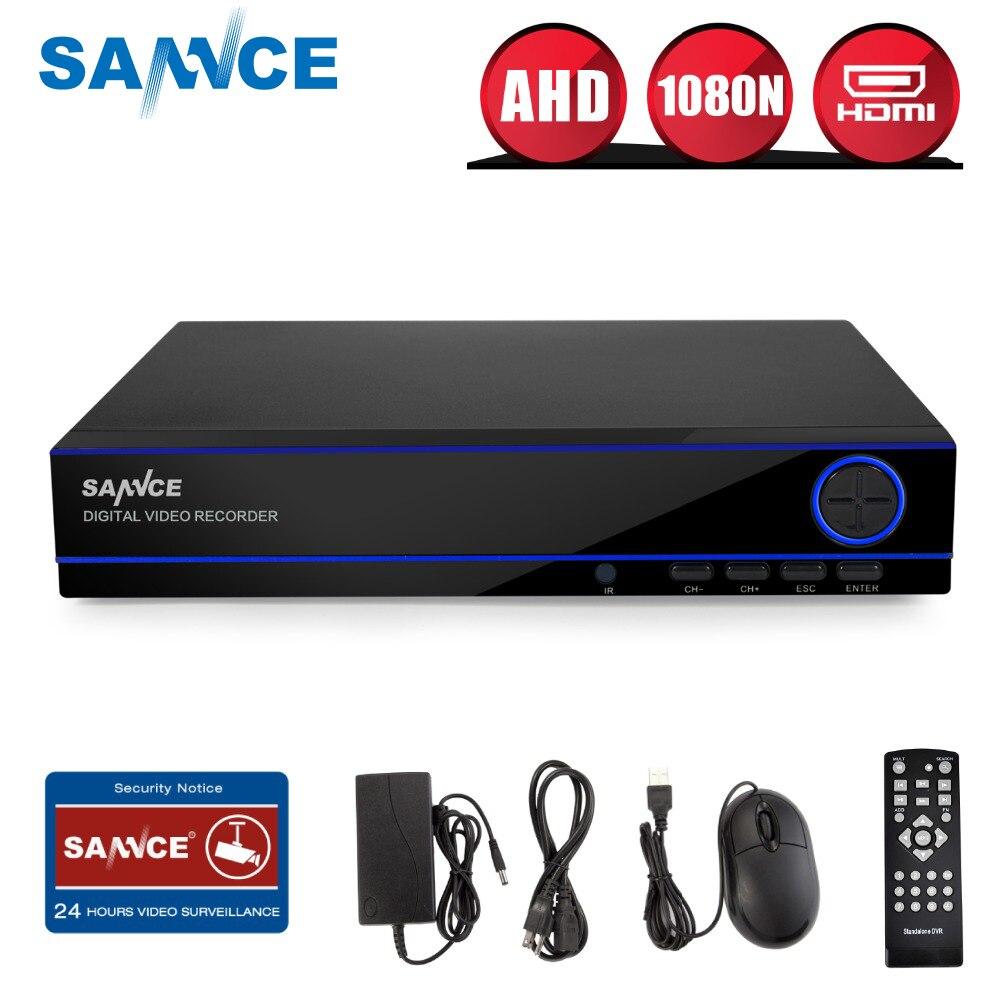 SANNCE 16CH Полный 720 P AHD CVI безопасности DVR HDMI 1080N Гибридный CCTV HVR видео Регистраторы 16 каналов для главная видеонаблюдения Системы