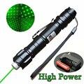 5 МВт 532nm Мощная Зеленая Лазерная Указка Pen Lazer Сжигания Луч Света Водонепроницаемый Высокой Мощности С 18650 + 18650 зарядное устройство #83872