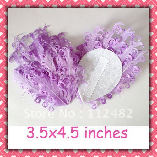 50pcs / lots Solid Purple Curly feather pads Gift  Wholesale Free Shipping