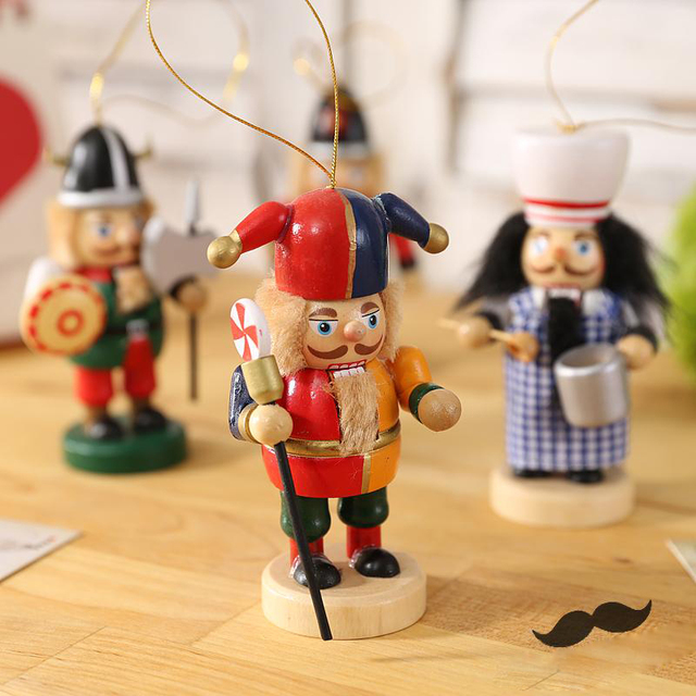 10cm fat men wood toys handmade polish german nutcracker soldier birthday for children wooden christmas collectible - German Handmade Wooden Christmas Decorations