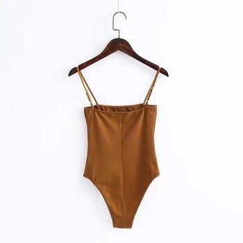 2019 Summer Sexy Spaghetti Strap Backless fit Romper Body Siamese Bodysuit Slim Skinny Tight Jumpsuit Undershirt Playsuits 9