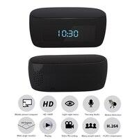 1080P IP Camera Wi Fi Surveillance Wireless WIFI Electronic Clock Mini Camera Remotely Monitor P2P CCTV