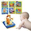 Desenvolvimento da inteligência toys 0-12 meses do bebê livro de pano chocalhos macio atividade desdobramento livros animais bonitos crianças toys